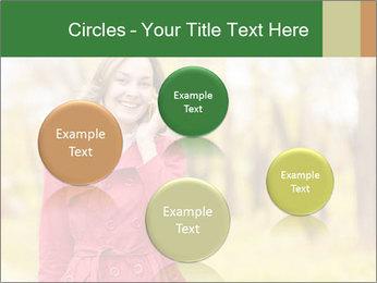 Woman talking on phone PowerPoint Templates - Slide 77