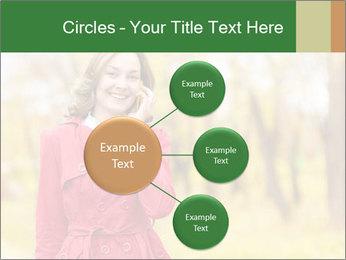 Woman talking on phone PowerPoint Templates - Slide 79