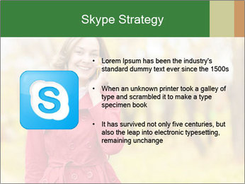Woman talking on phone PowerPoint Template - Slide 8