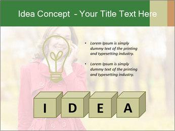 Woman talking on phone PowerPoint Templates - Slide 80