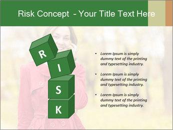 Woman talking on phone PowerPoint Templates - Slide 81