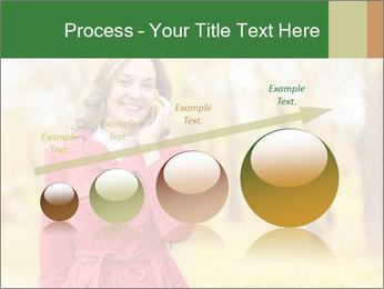 Woman talking on phone PowerPoint Template - Slide 87