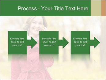Woman talking on phone PowerPoint Templates - Slide 88