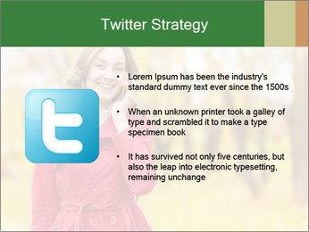 Woman talking on phone PowerPoint Template - Slide 9