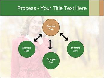 Woman talking on phone PowerPoint Templates - Slide 91