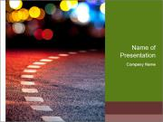 Asphalt road PowerPoint Templates