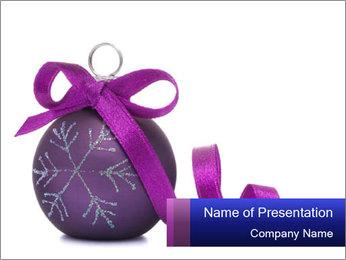 Christmas ball PowerPoint Template - Slide 1