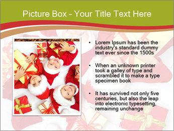 Three children in Christmas PowerPoint Templates - Slide 13