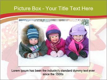Three children in Christmas PowerPoint Templates - Slide 15