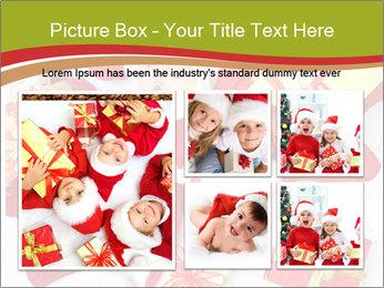 Three children in Christmas PowerPoint Templates - Slide 19