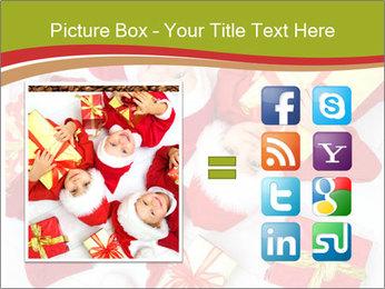 Three children in Christmas PowerPoint Templates - Slide 21