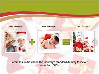 Three children in Christmas PowerPoint Templates - Slide 22