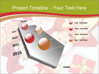 Three children in Christmas PowerPoint Templates - Slide 26