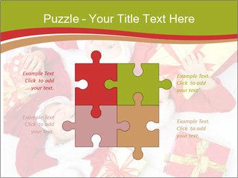 Three children in Christmas PowerPoint Templates - Slide 43