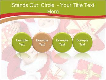 Three children in Christmas PowerPoint Templates - Slide 76