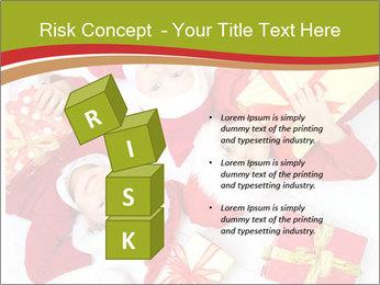 Three children in Christmas PowerPoint Templates - Slide 81