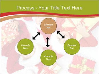 Three children in Christmas PowerPoint Templates - Slide 91