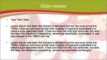 Three children in Christmas PowerPoint Template - Slide 2