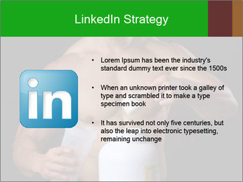 Body Builder pouring a scoop of protein PowerPoint Template - Slide 12