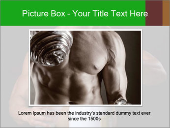 Body Builder pouring a scoop of protein PowerPoint Template - Slide 15