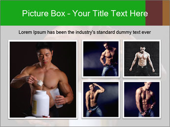 Body Builder pouring a scoop of protein PowerPoint Template - Slide 19