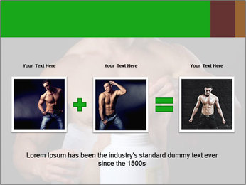 Body Builder pouring a scoop of protein PowerPoint Template - Slide 22