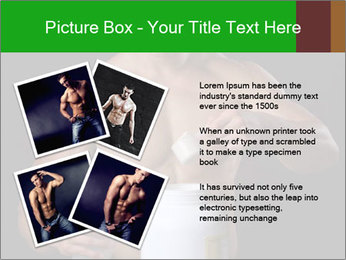 Body Builder pouring a scoop of protein PowerPoint Template - Slide 23