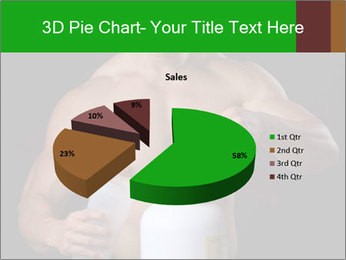 Body Builder pouring a scoop of protein PowerPoint Template - Slide 35