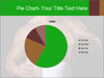 Body Builder pouring a scoop of protein PowerPoint Template - Slide 36