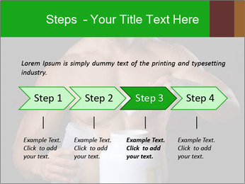 Body Builder pouring a scoop of protein PowerPoint Template - Slide 4