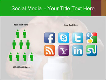 Body Builder pouring a scoop of protein PowerPoint Template - Slide 5
