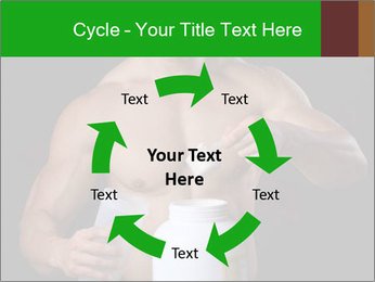 Body Builder pouring a scoop of protein PowerPoint Template - Slide 62