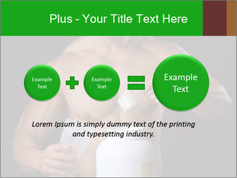 Body Builder pouring a scoop of protein PowerPoint Template - Slide 75