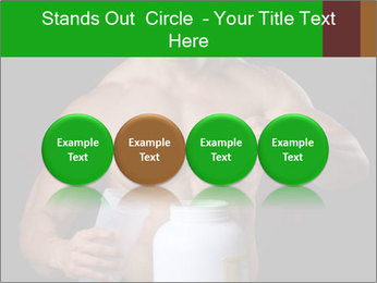 Body Builder pouring a scoop of protein PowerPoint Template - Slide 76