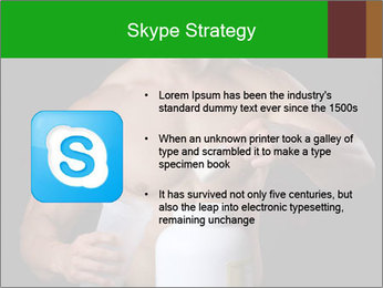Body Builder pouring a scoop of protein PowerPoint Template - Slide 8
