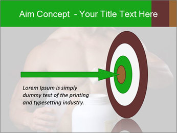 Body Builder pouring a scoop of protein PowerPoint Template - Slide 83