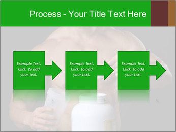 Body Builder pouring a scoop of protein PowerPoint Template - Slide 88