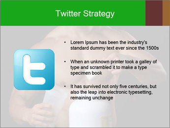 Body Builder pouring a scoop of protein PowerPoint Template - Slide 9