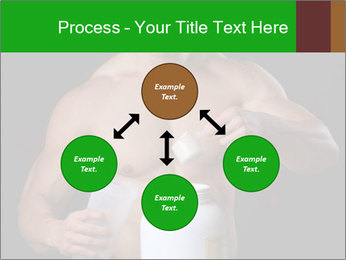 Body Builder pouring a scoop of protein PowerPoint Template - Slide 91