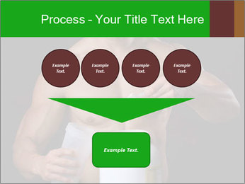 Body Builder pouring a scoop of protein PowerPoint Template - Slide 93
