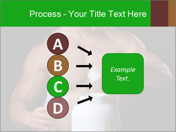Body Builder pouring a scoop of protein PowerPoint Template - Slide 94