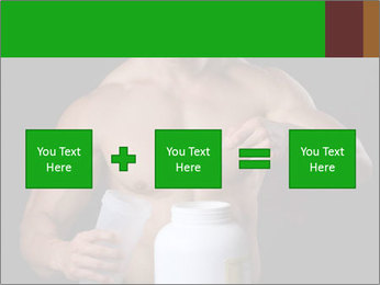 Body Builder pouring a scoop of protein PowerPoint Template - Slide 95