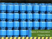 Gas cylinder storage PowerPoint Template