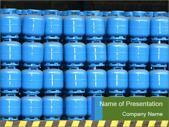 Gas cylinder storage PowerPoint Template - Slide 1