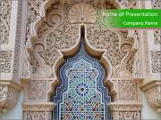 Moroccan architecture PowerPoint Templates