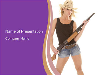 A cowgirl PowerPoint Templates - Slide 1
