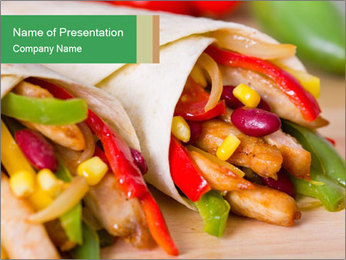 Mexican fajitas PowerPoint Templates - Slide 1