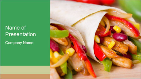 Mexican fajitas PowerPoint Template