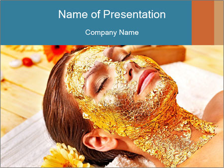 Gold mask PowerPoint Templates