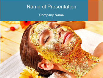 Gold mask PowerPoint Templates - Slide 1
